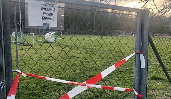 Sportplatz gesperrt Corona Newsletter Aufmacher